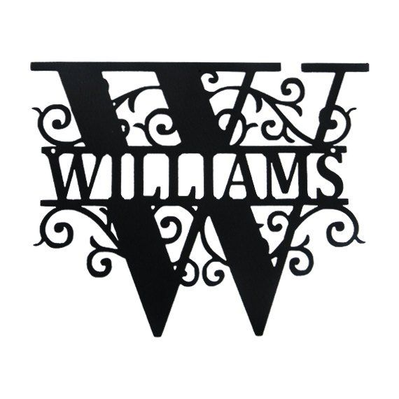 Custom Monogram With A Large Single Letter And Name