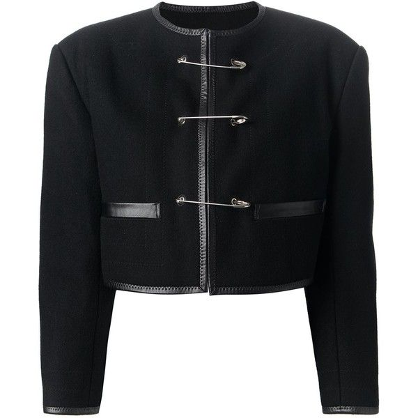 Jean Paul Gaultier Vintage Safety Pin Fastening Jacket ( 994) ❤ liked on  Polyvore featuring fde2ecda3