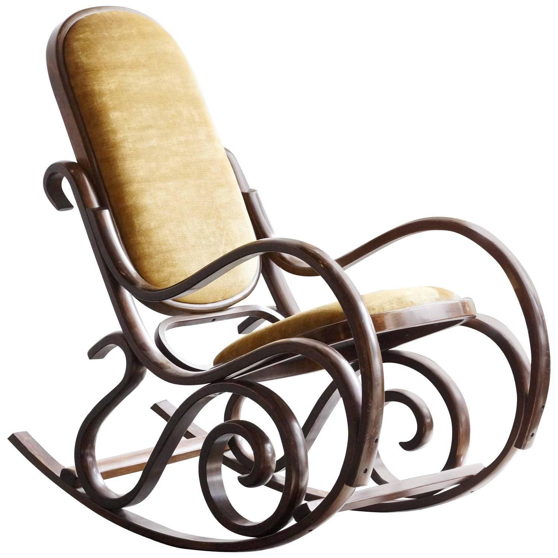 bent wood rocking chair high metal stool thonet style bentwood 1 home pinterest