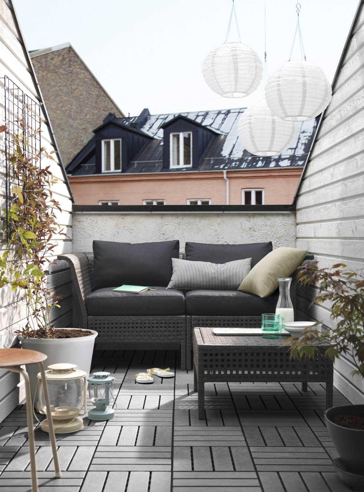 Ikea gartenmöbel lounge  IKEA Deutschland | Mit KUNGSHOLMEN kann man ganz leicht Urlaub auf ...