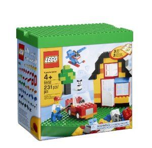 LEGO Bricks & More My First LEGO Set 5932 by LEGO. $44.99. 231 elements. 1 minifigure. 4 wheels, 2 propellers, 2 windows, 1 door and decorated bricks. 1 building plate. Building instructions. From the Manufacturer                A perfect introduction to LEGO building fun, this set features regular and shaped LEGO bricks, windows, a door, a minifigure, wheels, a propeller and a special building plate. Follow the instructions to build a house, car, helicopter, and much more....