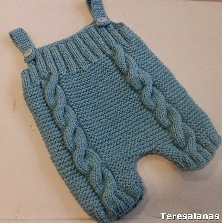 How to master knitting overalls for a newborn 12