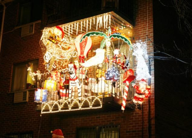 An #apartment balcony that's just a little over the top. #Christmas