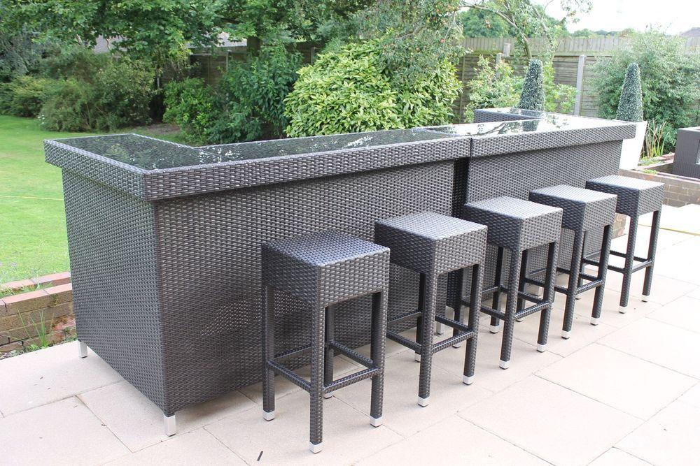 Stylish Rattan Outdoor Bar Counter Outdoor Bar Rattan Outdoor Furniture Outdoor Furniture Sets