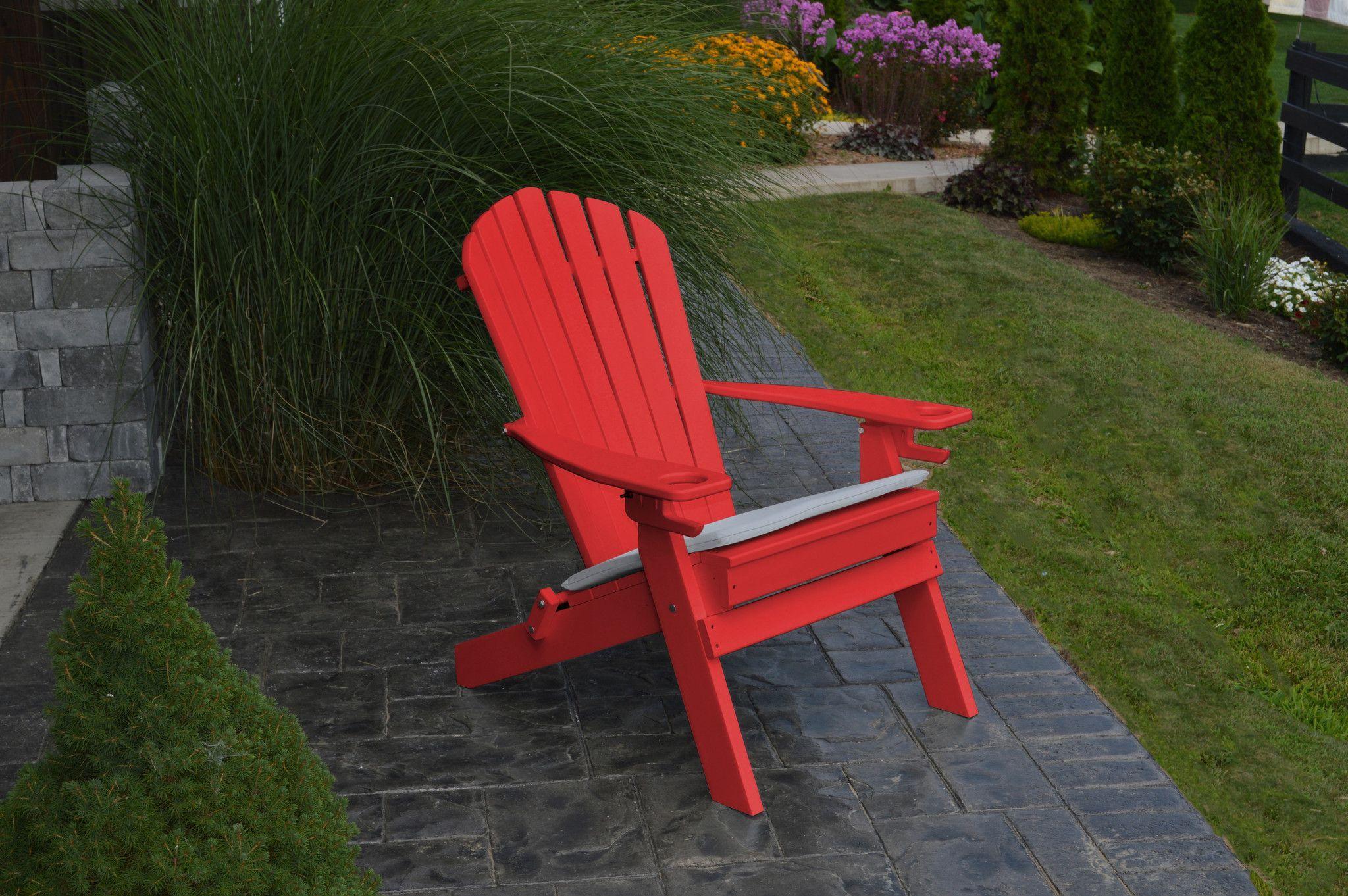A&L Furniture Company Folding Recycled Plastic Adirondack