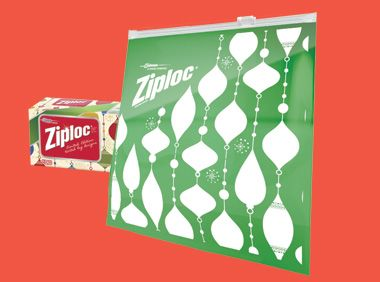 Green Limited Edition Ziploc Brand Holiday Slider Bags