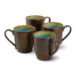 Morocco 4 Piece Mug Set Blue now featured on Fab.