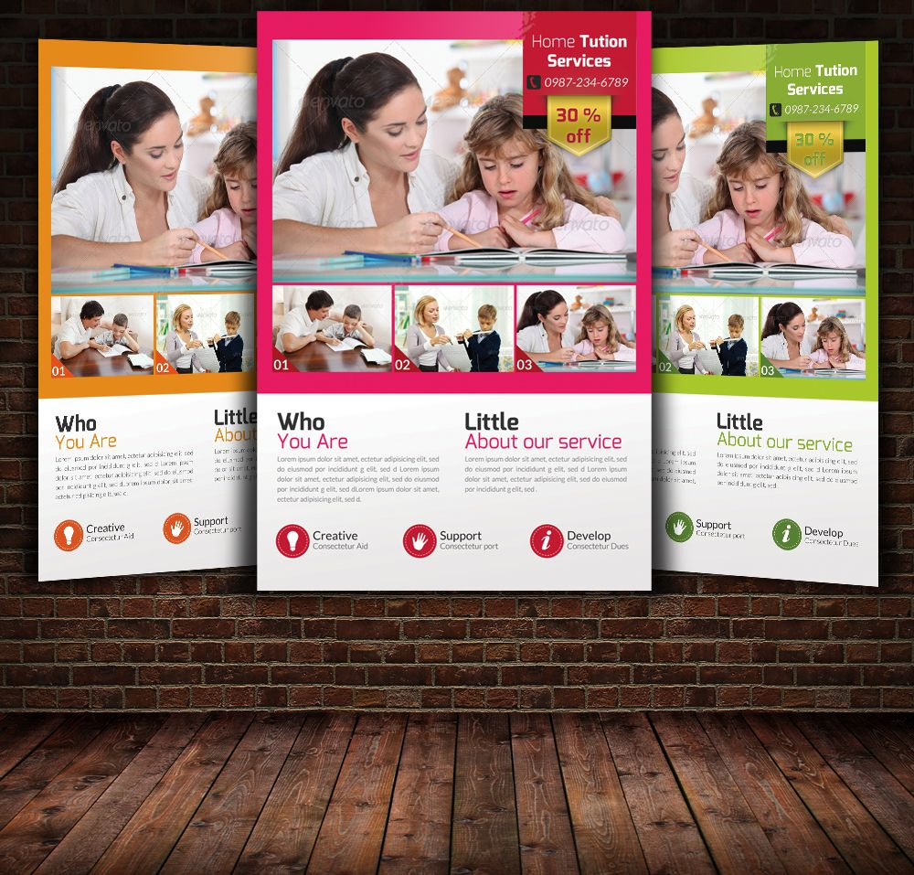 home tuition flyers flyers home and creative