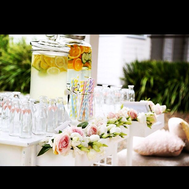 Drinks station by A Main Event Wedding @AMainEventWed