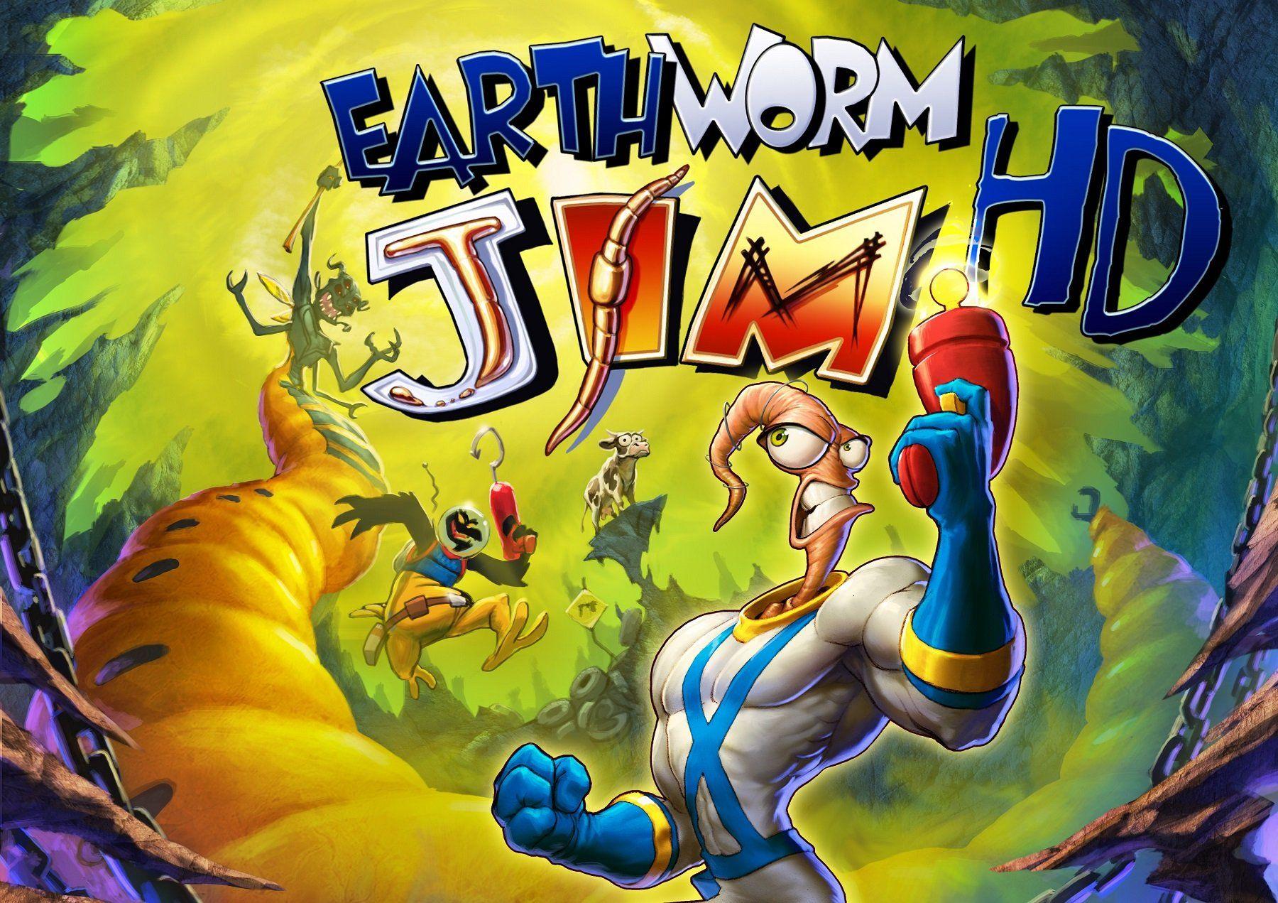 Earthworm Jim Mens T Shirt Computer Game /& 90/'s Cartoon Television Series