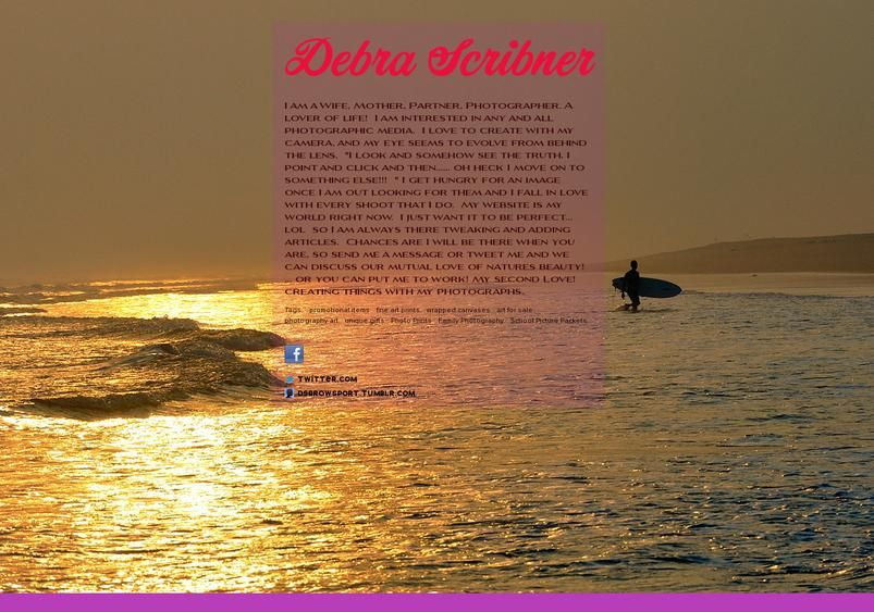 Debra Scribner's page on about.me – http://about.me/SnapVisionS