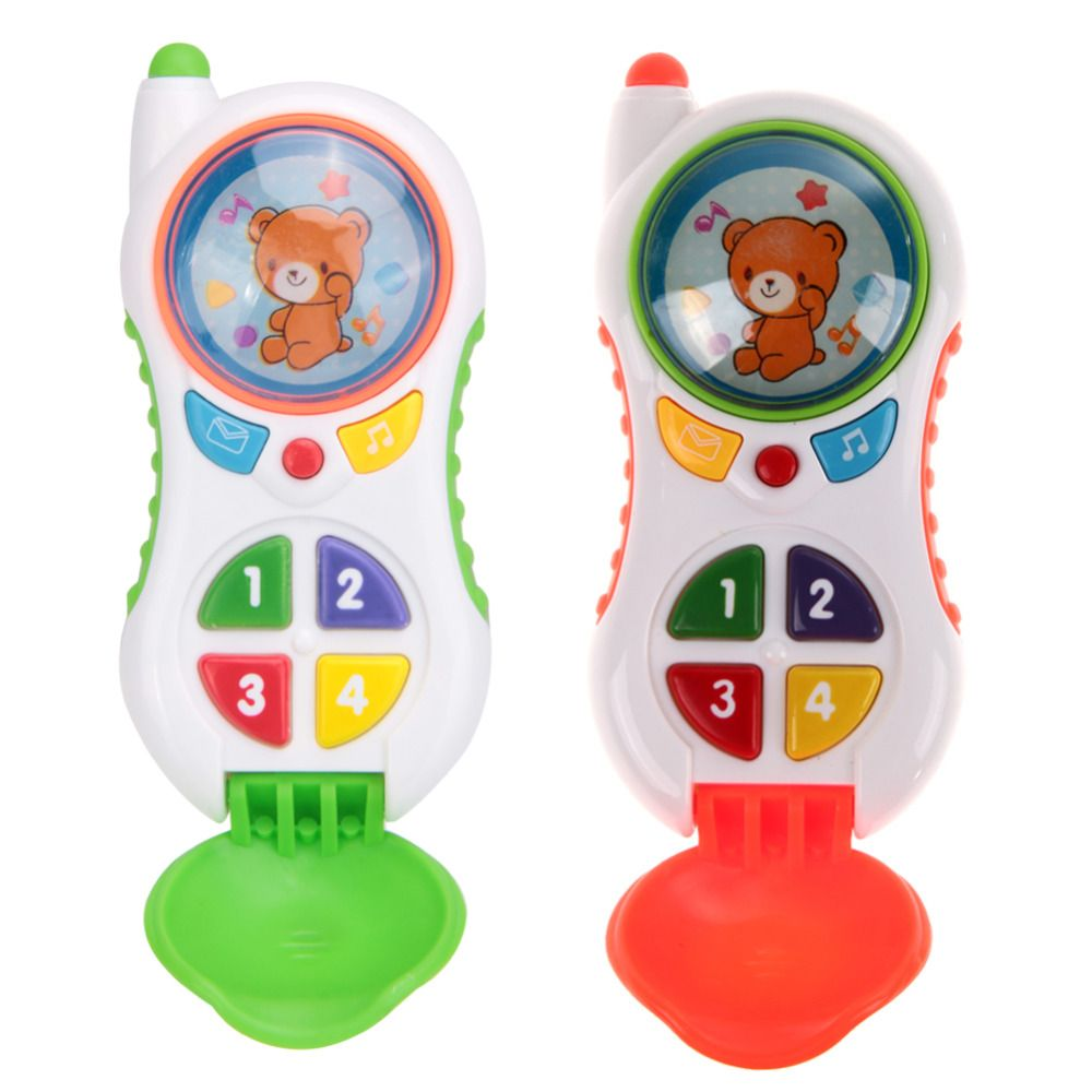 Teléfono del Juguete del bebé Niños Niños Juguete Educativo Aprendizaje Estudio Musical Teléfono Celular Del Teléfono Móvil de Color Al Azar