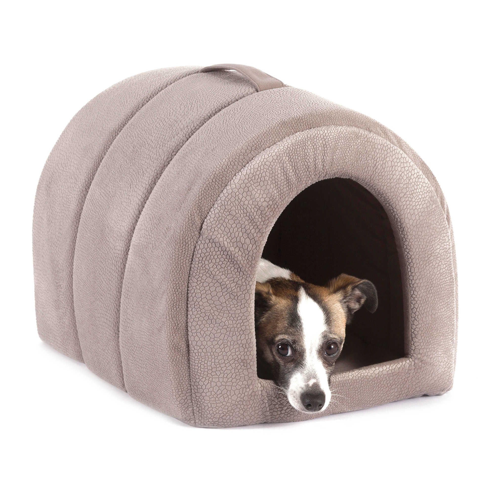 Best Friends by Sheri Small Embossed Igloo Pet Bed in Grey