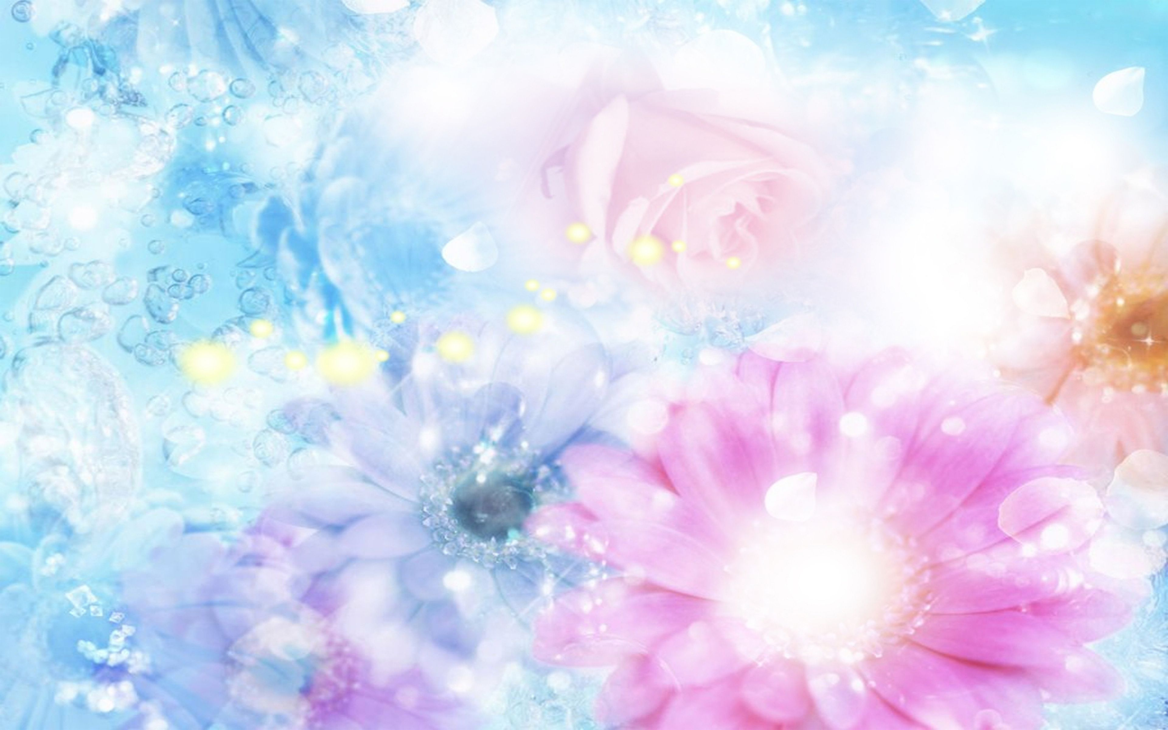 3d Designs Image By Noor Bano Blue Flowers Background Blue