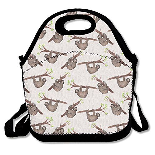 Flying XIE Lunch Tote Bag Cute Sloth Insulated Lunch Box Food Bag Pouch  Tote Bag For Adults Kids School Work Picnic Reusable Container Neoprene ... 217a59c5489ae