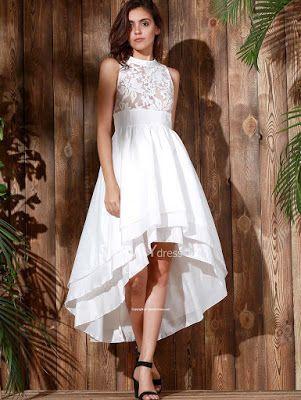 propuestas de Vestidos Cortos con Cola | vestidos kris | Pinterest ...