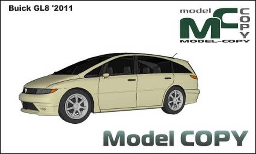 Buick Gl8 2011 Modello 3d Model Copy Buick Modello 3d