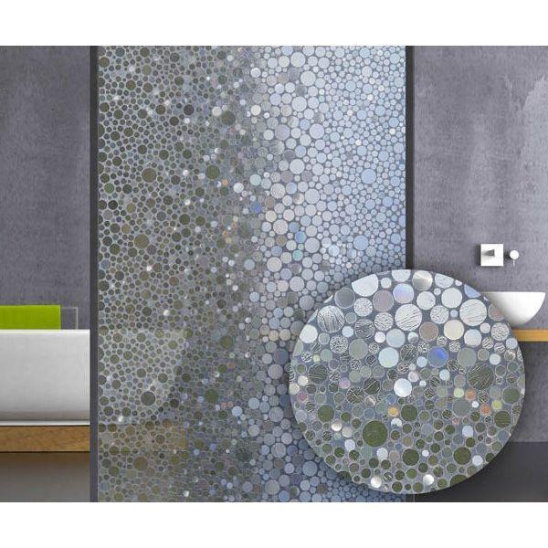 Film electrostatique design bulles en 2019 et pour ma salle de bain film electrostatique - Film vitre salle de bain ...
