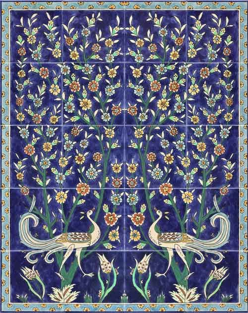 Beautiful wall decor tiles : Birds wall tile murals and covering this
