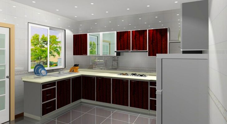 Make A Statement With These 4 Modular Kitchen Designs. 3d Kitchen DesignL  Shaped ...