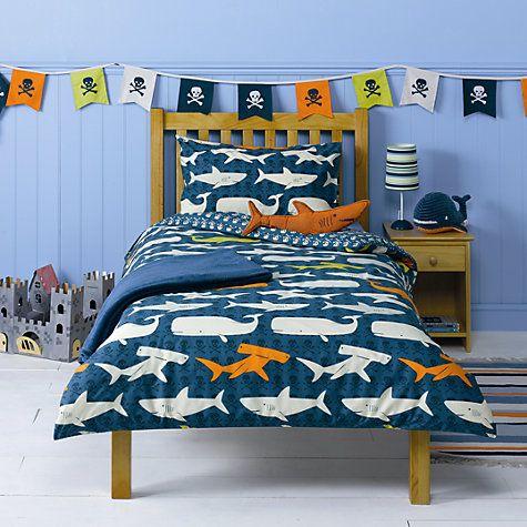 Buy little home at John Lewis Walk The Plank Single Duvet ...