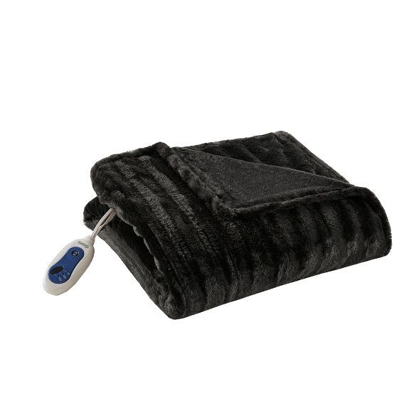 Simmons Electric Duke Faux Fur Throw In 2020 Heated Throw Faux Fur Throw Heated Throw Blanket