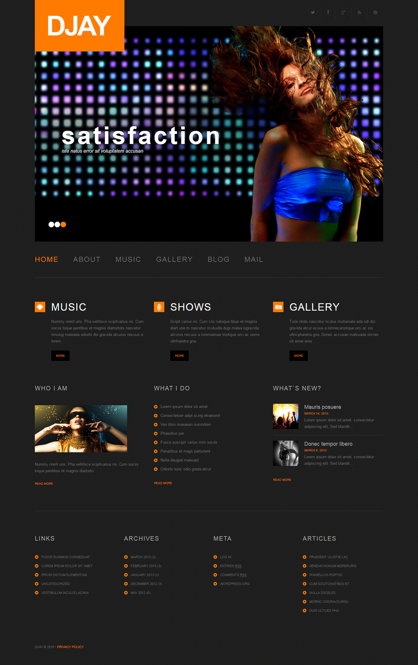 radio station wordpress theme