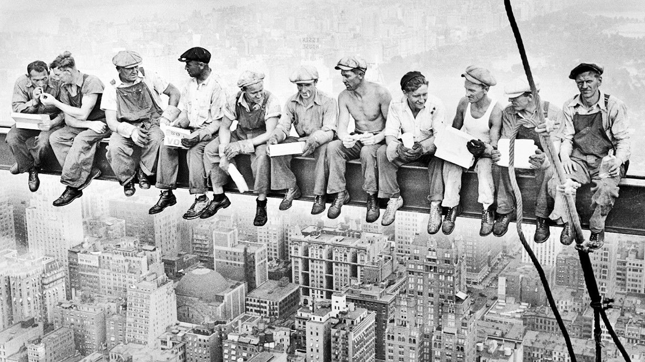 Men at Lunch tells the story of early 20th century immigration in America; of how modern-day New York emerged in the throes of the Great Depression; of the fundamental importance of iron workers, both then and now, particularly as the descendants of the early Irish iron workers rebuild the World Trade Center; and how one simple snapshot has captured the imaginations of people the world over.