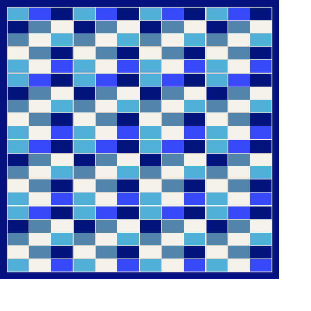 An example quilt using the Hit and Miss block. | Hand made ...
