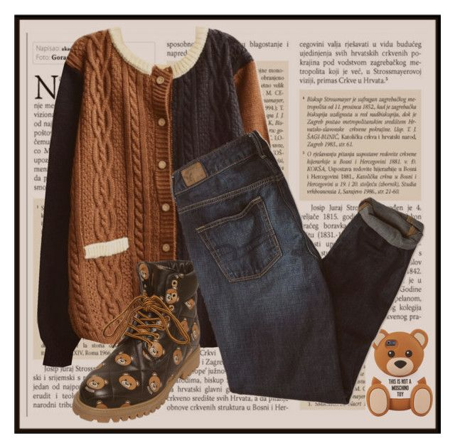 """Teddy bear"" by kennystylesd on Polyvore featuring Moschino e American Eagle Outfitters"