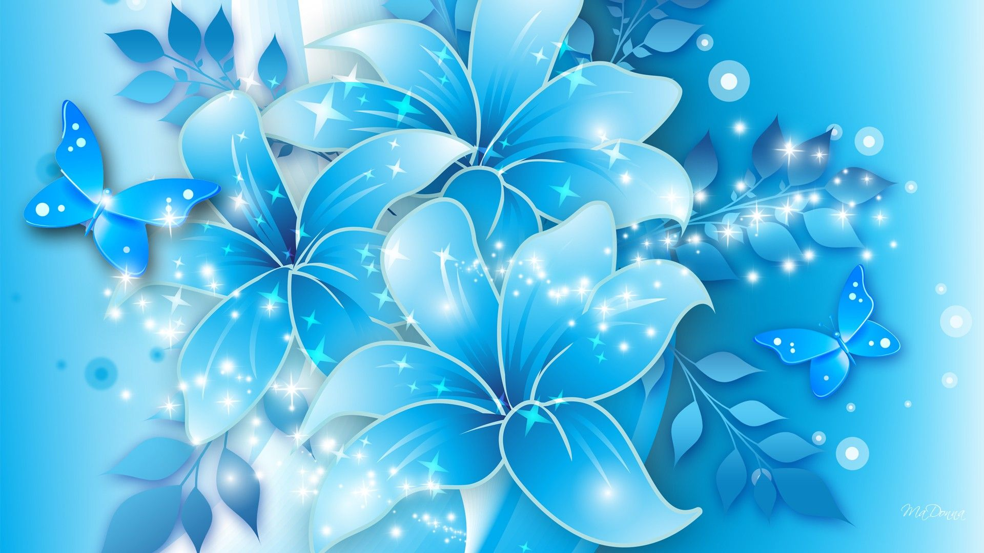 Butterfly Flowers Wallpaper Abstract