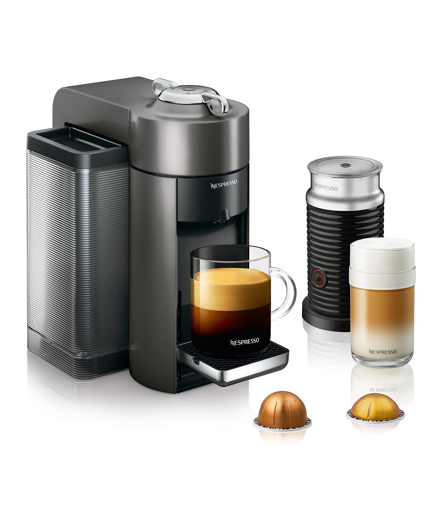 Nespresso by Delonghi VertuoLine Evoluo Grey Bundle Coffee