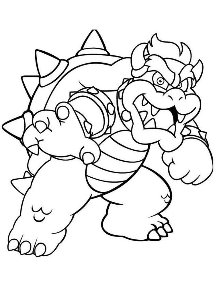 Bowser Jr (With images) Super mario coloring pages