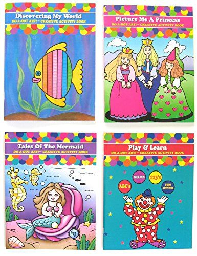 Do A Dot Art Coloring Books Gift Set Play And Learn Tales Of The Mermaid Discovering My World And Picture Coloring Books Gifts Coloring Book Gift Set Do A Dot