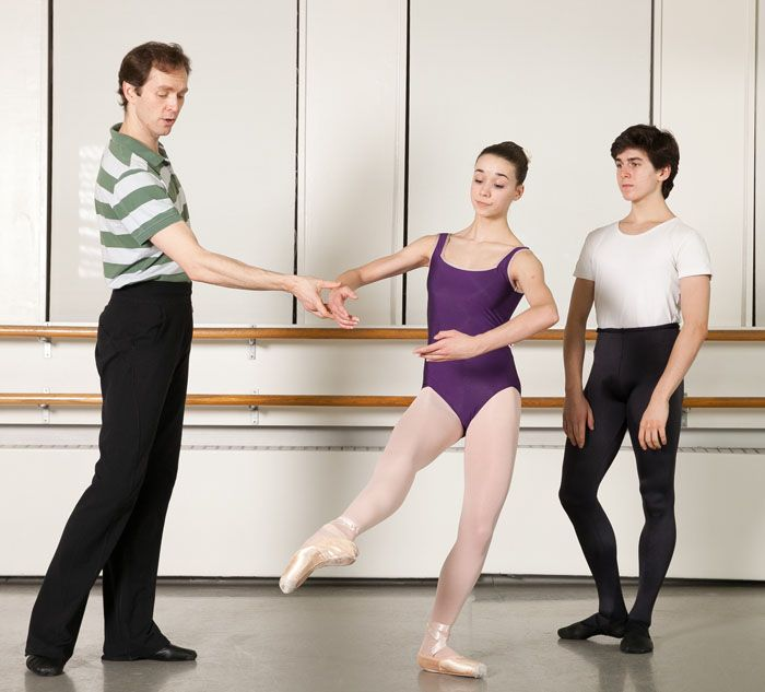 Charles Askegard coaching Ballet Academy East students Marisa - dance instructor job description