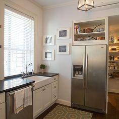 Open Shelving Above Refrigerator Kitchen Makeover Diy Kitchen