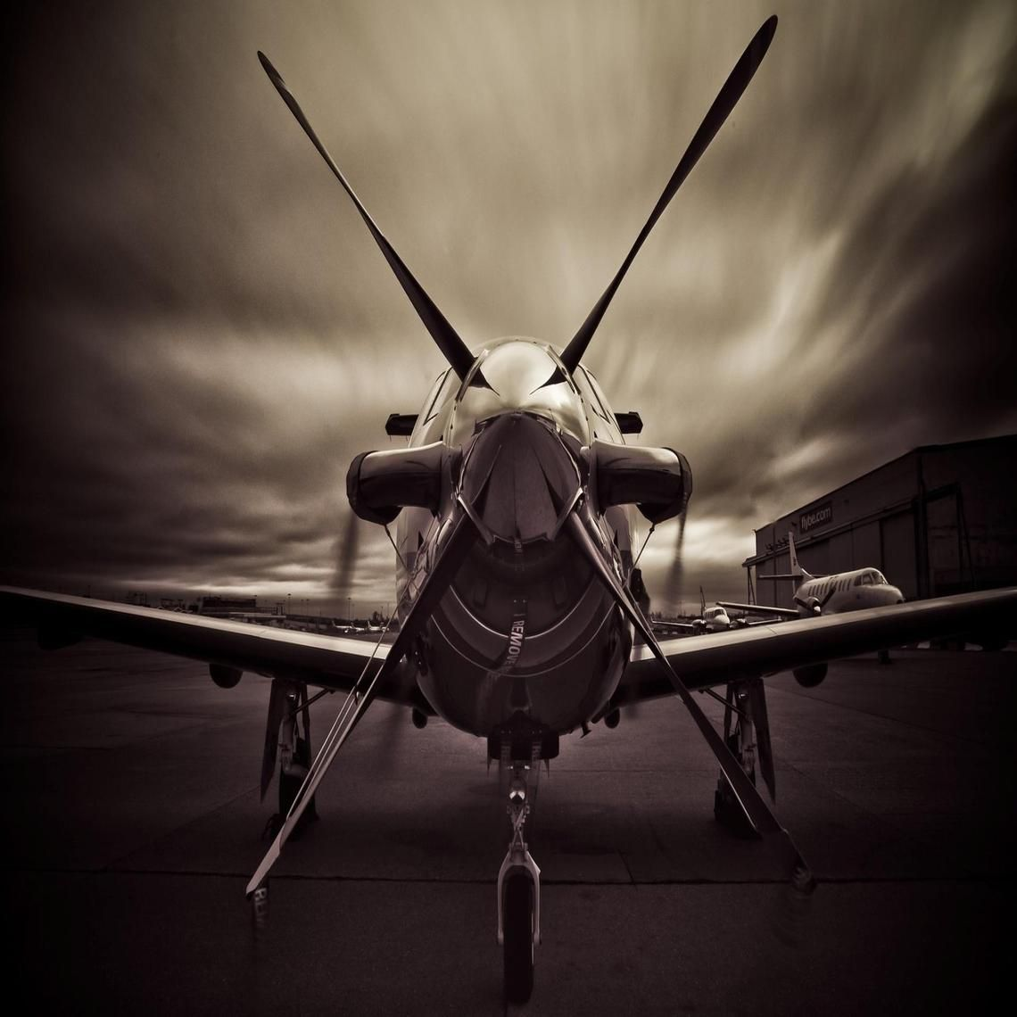 Pilatus Pc 12 Turboprop Aircraft Airplane Art Plane