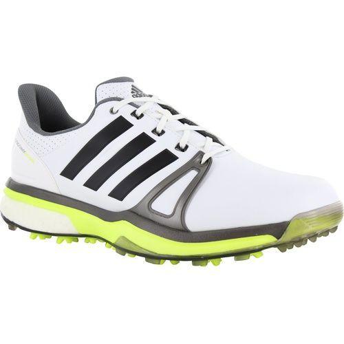 adidas Golf adipower Boost 2 Golf Shoes White Silver Yellow ... e02deb8ea