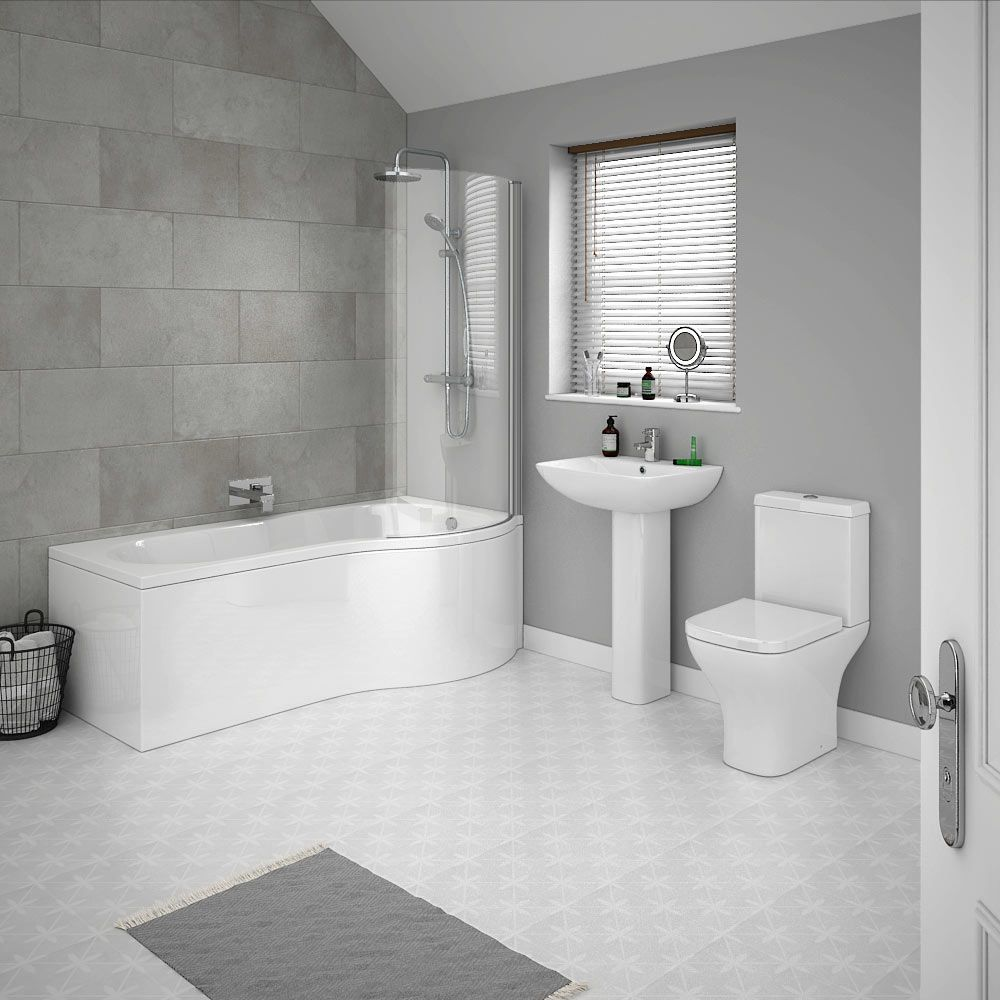 Pro 600 Modern Free Standing Bath Suite Now At Victorian Plumbing Contemporary Grey Bathrooms Grey Bathrooms Designs Modern Bathroom