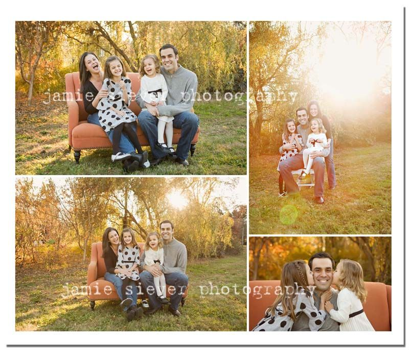 Family Pictures Using A Chair