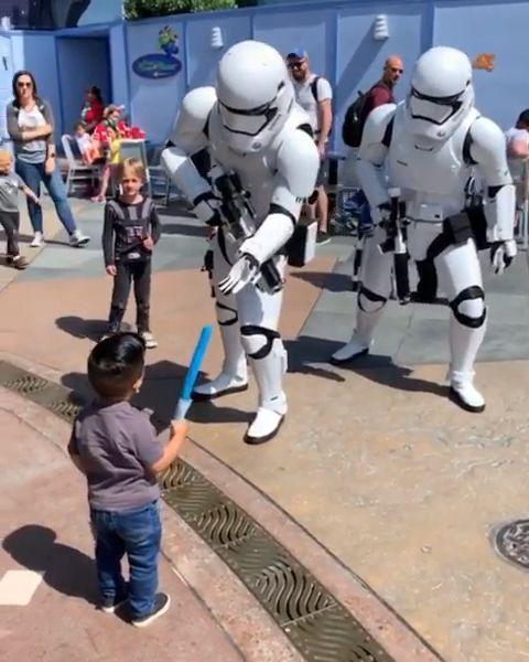 Photo of Storm Troopers vs Little Boy ?