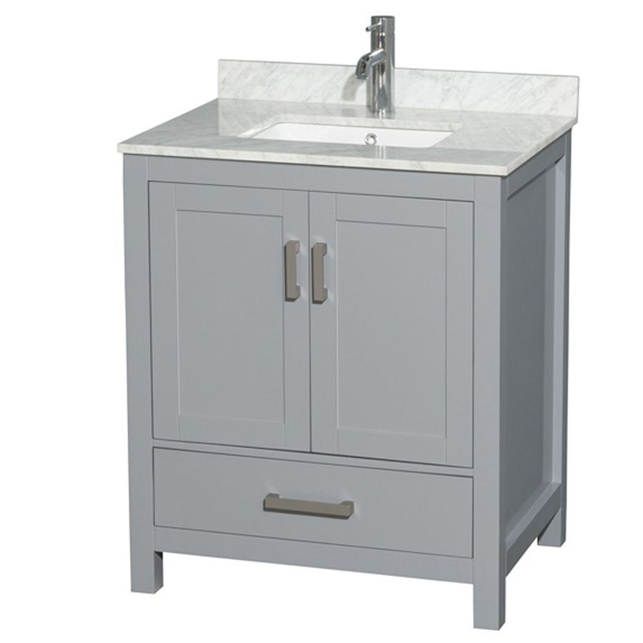Wyndham Collection Sheffield Gray 30In Undermount Single Sink Captivating 30 Bathroom Vanity With Top Decorating Design