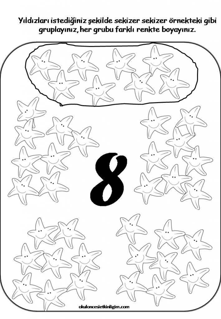 Sayilar 7 Anaokulu Matematigi Ogrenme Faaliyetler