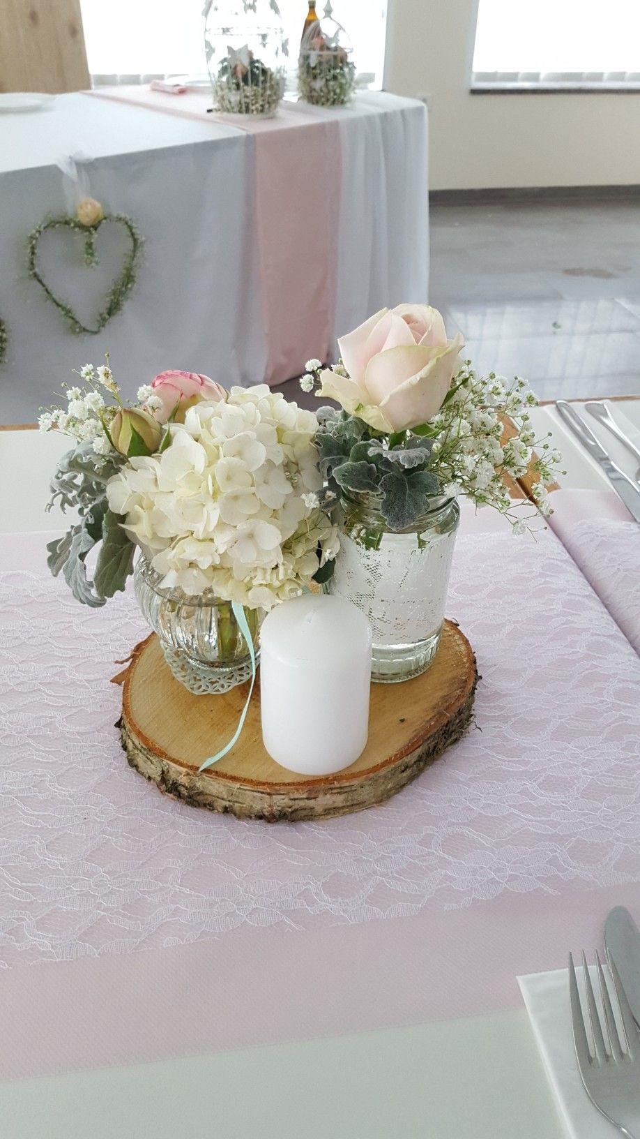 Wedding Vintage Flowers Table Decoration Tischdekoration Hochzeit