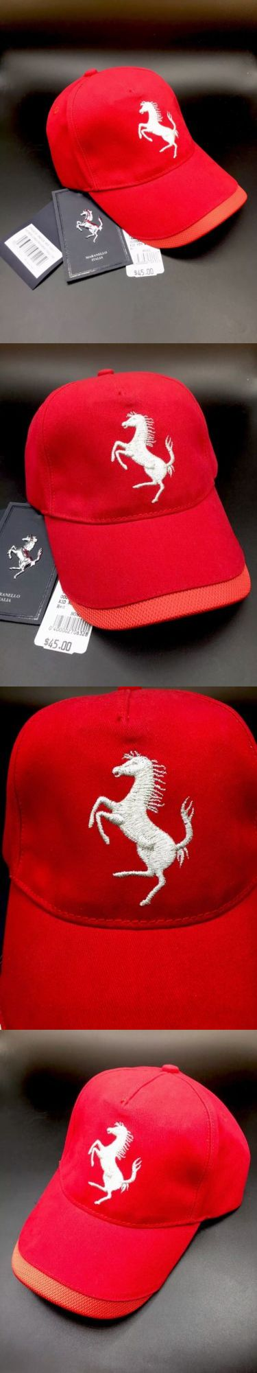 39bd28f5d45 Hats 15630  Ferrari Kids Youth Lurex Prancing Horse Twill Hat Cap Red One  Size 270032135 New -  BUY IT NOW ONLY   1699 on eBay!