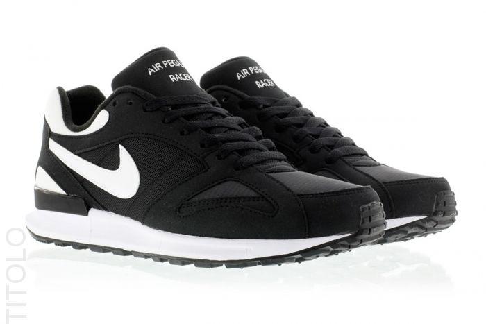 Nike Air Pegasus New Racer (Black White Black Neutral Grey)