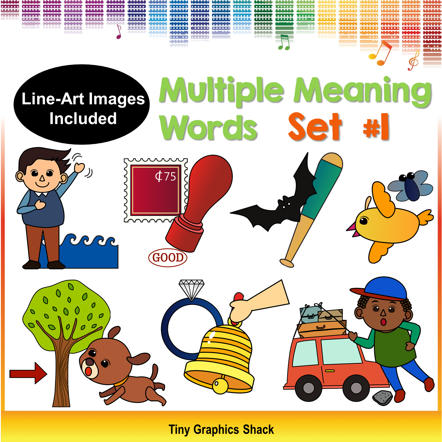 Multiple Meaning Words Clipart Set 1 Homonyms