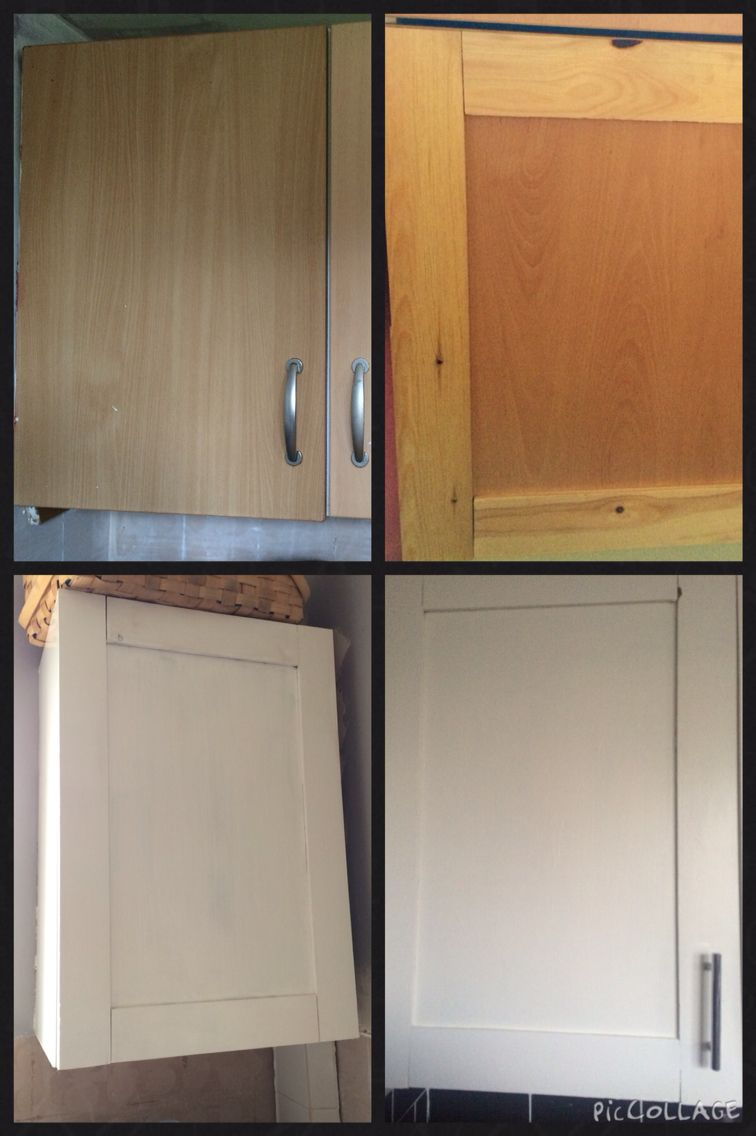 How I Revamped My Kitchen Cupboards With Some Wood Wood Glue Paint And New Door Handles Kitchen Cupboards Door Handles Kitchen
