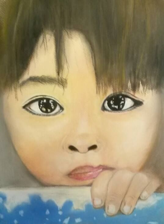 Pastelportretje op Mi-teintes. Afbeelding via google. Sandy hofman feb 2016