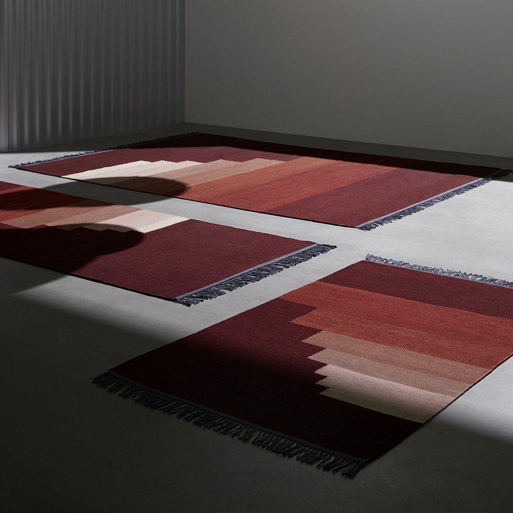 Tapis Graphique Rouge Tradition La Maison Jaune
